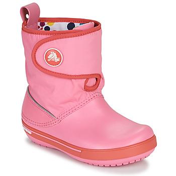 Schuhe Kinder Schneestiefel Crocs CROCBAND ll.5 GUST BOOT KIDS PLEM PPY Rose