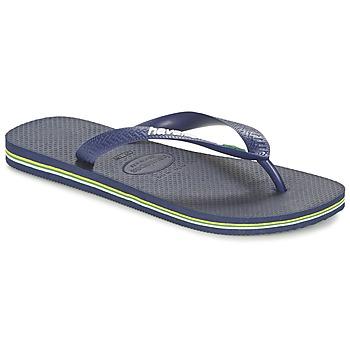 Schuhe Zehensandalen Havaianas BRASIL LOGO Marine