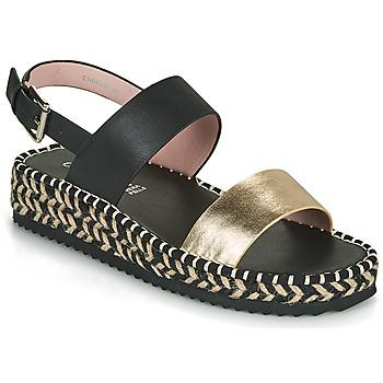 Schuhe Damen Sandalen / Sandaletten Café Noir GRISLI Schwarz / Gold