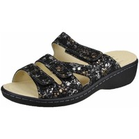 Schuhe Damen Pantoffel Portina Pantoletten -silber-gold 42.482 Platina Bydo schwarz