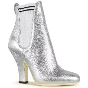 Schuhe Damen Low Boots Vintage  Silbern