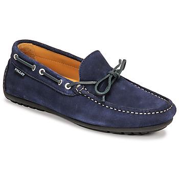 Schuhe Herren Slipper Pellet Nere Blau