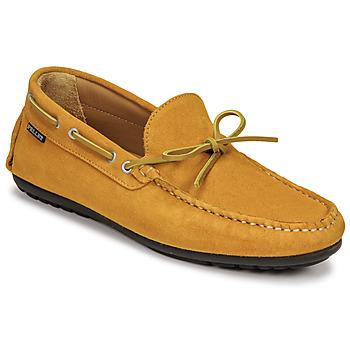 Schuhe Herren Slipper Pellet Nere Gelb