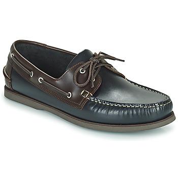 Schuhe Herren Bootsschuhe Pellet Vendée Blau / Braun