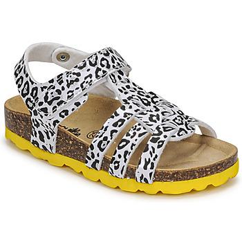 Schuhe Mädchen Sandalen / Sandaletten Citrouille et Compagnie JANISOL Leopard / Weiss / Schwarz