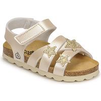 Schuhe Mädchen Sandalen / Sandaletten Citrouille et Compagnie OKILIA Gold