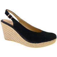 Schuhe Damen Leinen-Pantoletten mit gefloch Toni Pons TOPBEIRUTn nero