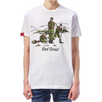 Kleidung Herren T-Shirts Dsquared S74GD0361 Weiss