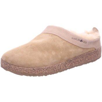 Schuhe Damen Hausschuhe Haflinger Lammfellclog Snowbird 713015 0 46 beige