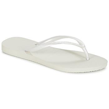 Schuhe Damen Zehensandalen Havaianas SLIM Weiss