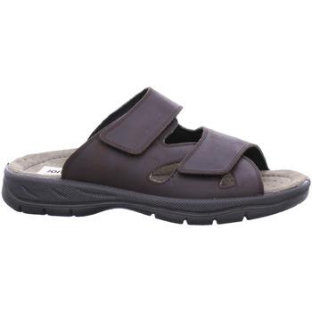 Schuhe Herren Pantoffel Jomos Offene 2 Klett Pantolette 503611-42-355 braun