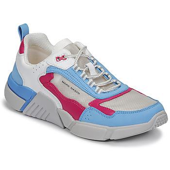 Schuhe Damen Sneaker Low Skechers BLOCK/WEST Weiss / Blau / Rose