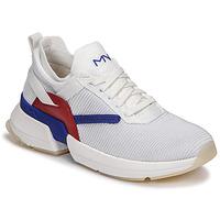Schuhe Damen Sneaker Low Skechers SPLIT/OVERPASS Weiss / Blau / Rot