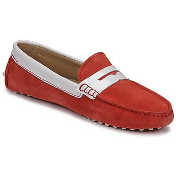 Schuhe Damen Slipper JB Martin TABATA Korallenrot