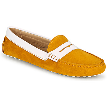 Schuhe Damen Slipper JB Martin TABATA Crème / gelb