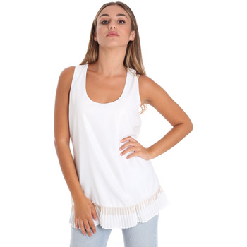 Kleidung Damen Tops / Blusen Fracomina FR20SM014 Weiß