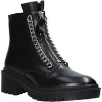 Schuhe Damen Boots Apepazza F0COMBAT10/LEA Schwarz