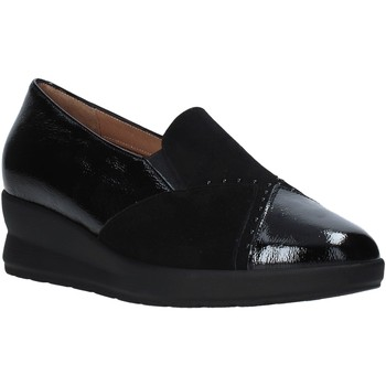 Schuhe Damen Slipper Soffice Sogno I20602 Schwarz