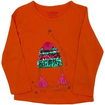Kleidung Kinder Langarmshirts Losan 026-1201AL Orange
