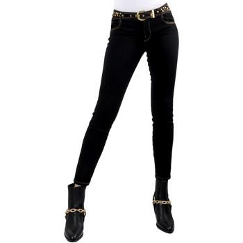 Kleidung Damen Slim Fit Jeans Versace A1HVB02HAPV4P899 Schwarz