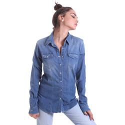 Kleidung Damen Hemden Fornarina BE174577D884AS Blau