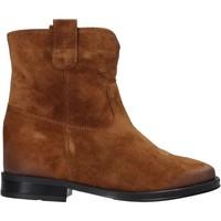 Schuhe Damen Boots Pregunta MAA3307 Braun