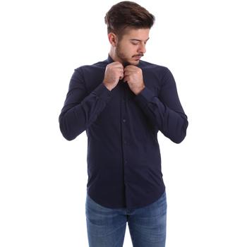 Kleidung Herren Langärmelige Hemden Automatic CAU22400 Blau