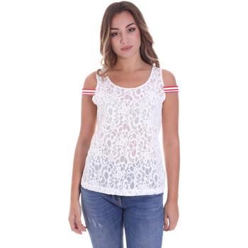Kleidung Damen Tops / Blusen Fornarina BE175J89JG1309 Weiß