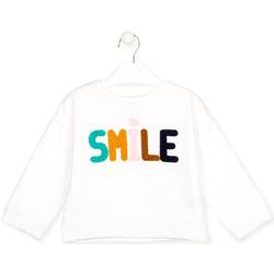 Kleidung Kinder Langarmshirts Losan 026-6029AL Weiß