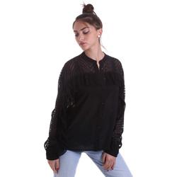 Kleidung Damen Hemden Fracomina F120W15014W00401 Schwarz