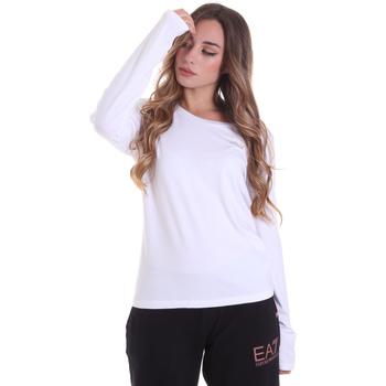 Kleidung Damen Langarmshirts Ea7 Emporio Armani 6HTT04 TJ28Z Weiß
