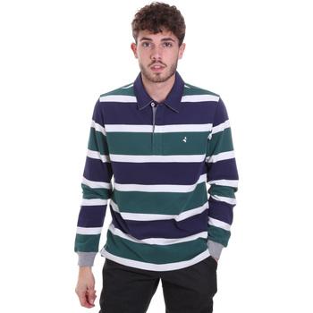 Kleidung Herren Langärmelige Polohemden Navigare NV30026 Blau