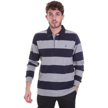 Kleidung Herren Langärmelige Polohemden Navigare NV30029 Blau