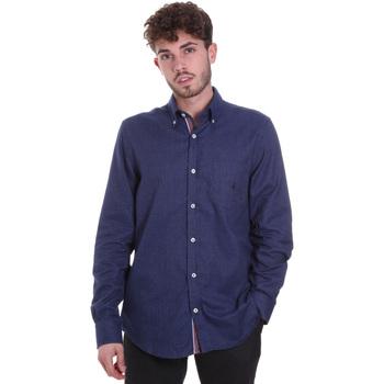 Kleidung Herren Langärmelige Hemden Navigare NV91135 BD Blau