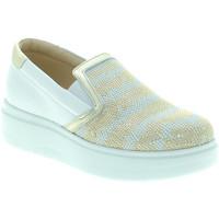 Schuhe Damen Slip on Exton E02 Weiß