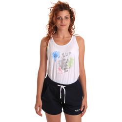 Kleidung Damen Jogginganzüge Key Up 5K78A 0001 Weiß