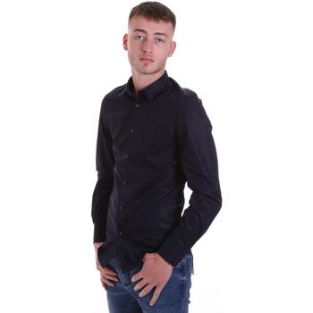 Kleidung Herren Langärmelige Hemden Antony Morato MMSL00628 FA400079 Blau