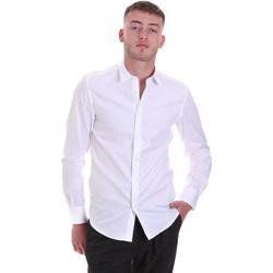 Kleidung Herren Langärmelige Hemden Antony Morato MMSL00628 FA400079 Weiß