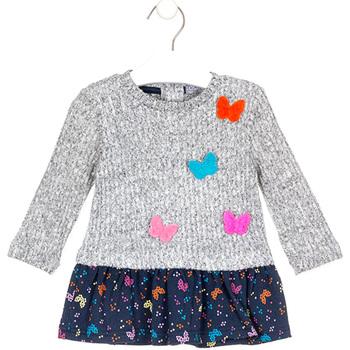 Kleidung Mädchen Kurze Kleider Losan 028-7015AL Grau