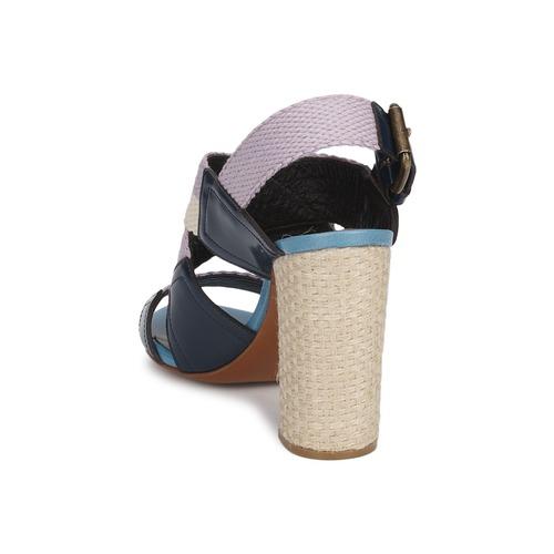 Rochas NASTR Schwarz / Violett / Naturfarben  Schuhe Sandalen / Sandaletten Damen 335,20