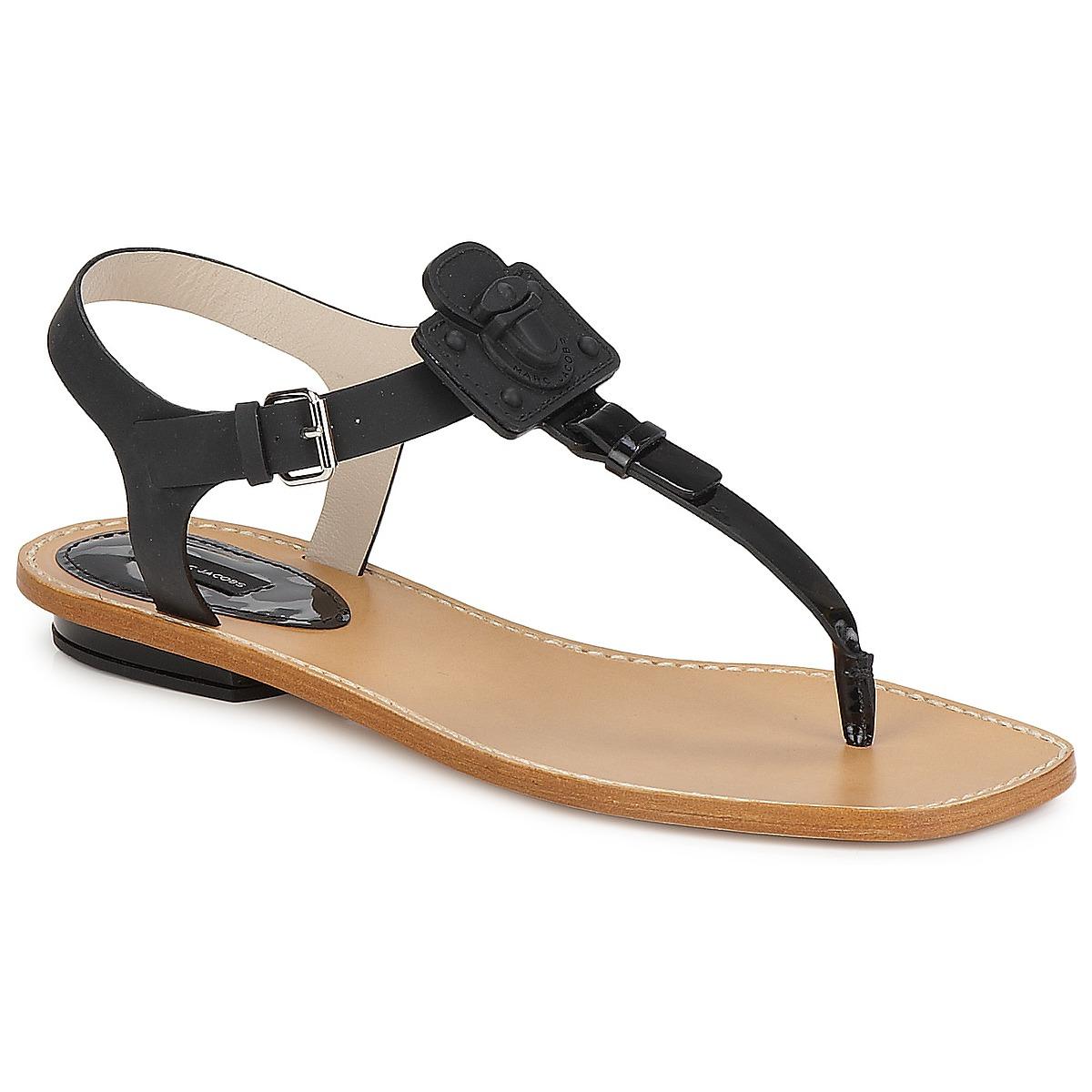 Marc Jacobs CHIC CALF Schwarz - Kostenloser Versand bei Spartoode ! - Schuhe Sandalen / Sandaletten Damen 247,50 €