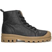 Schuhe Boots Nae Vegan Shoes Noah_Pinatex_Black Schwarz