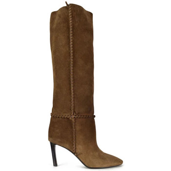 Schuhe Damen Klassische Stiefel Saint Laurent  Braun