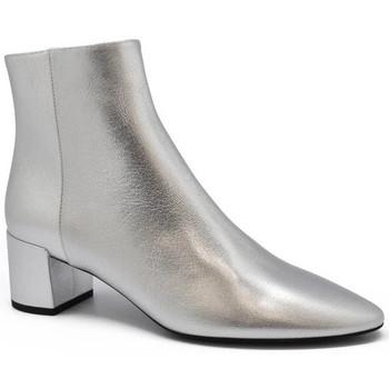 Schuhe Damen Low Boots Saint Laurent  Silbern