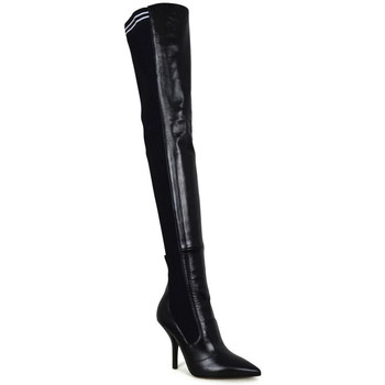 Schuhe Damen Kniestiefel Vintage  Schwarz