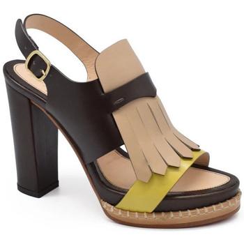 Schuhe Damen Sandalen / Sandaletten Santoni  Braun