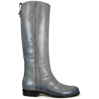 Schuhe Damen Stiefel Vintage  Grau