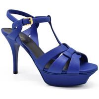 Schuhe Damen Sandalen / Sandaletten Saint Laurent  Blau