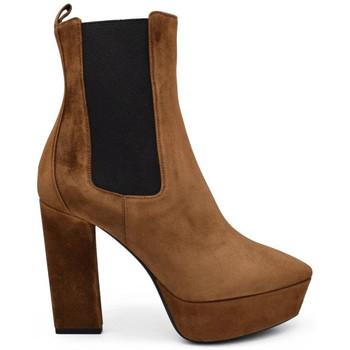 Schuhe Damen Stiefel Saint Laurent  Braun
