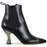 Schuhe Damen Stiefel Vintage  Schwarz